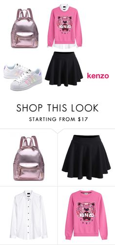 """""""kenzo outfit"""" by chaimamcbrown on Polyvore featuring mode, WithChic, Kenzo, adidas Originals en schoolgirls"""