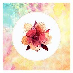 Framed Tropical Floral Square 1 Print