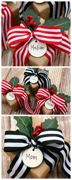 Christmas Gift Wrapping Ideas. I love the look of this! So simple, yet beautiful!