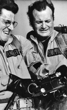 Harold Ramis & Bill Murray as Spengler & Venkman in Ghostbusters