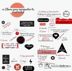 INFOGRAFÍA SER MÁS CREATIVOS #creativo #infografía #arte