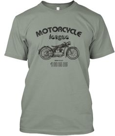 Motoacycle League Bmw A 1965 Grey T-Shirt Front