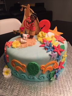 Moana Cake made by Myself !!