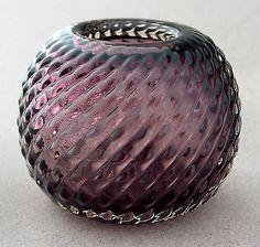 1953 Vase Hermann Bongard for Hadeland Glass verk Norway Norweigian Scandinavian Call Art, Glass Design, Art Forms, Norway, Scandinavian, Glass Art, Vases, Artwork, Vintage
