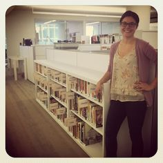 Lauren Caster, Test Kitchen Intern, and our Cookbook Library