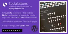 Socialuttons - The Ultimate Social Button Kit. Buy it on #codecanyon for just $14