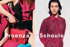 Proenza Schouler Spring 2016 ad campaign photographed by Zoë Ghertner