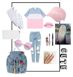 """Untitled #3"" by leeshirra on Polyvore featuring beleza, Topshop, adidas, Maybelline e Trish McEvoy"