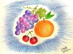 Colored pencil drawing # Fruits #1