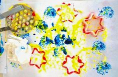 Simple and Fun Activity for Kids – Painting and Printing with Kitchen Supplies: I love to use everyday things in