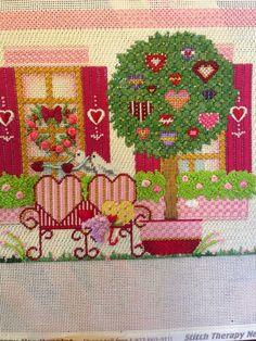 costura de steph: Melissa Shirley Valentine House y Santa en la luz de la luna