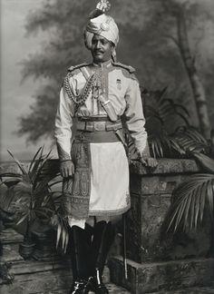 Thakur Hari Singh, Maharaja of Jodhpur, visit to Britain for Queen Victoria's Diamond Jubilee, photo Lafayette Portrait Studios. London, England, 1897.