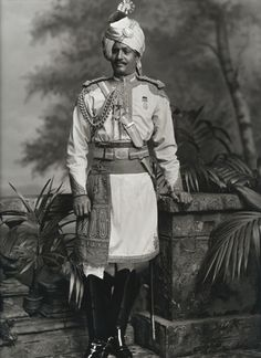Thakur Hari Singh, Maharaja of Jodhpur, visit to Britain for Queen Victoria's Diamond Jubilee, photo Lafayette Portrait Studios. London, England, 1897.