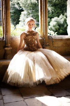 Alexander McQueen worn by Emma Watson by Simon Proctor. Harper's Bazaar