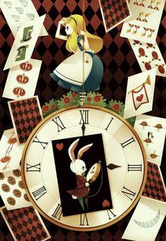 Alice e o relógio do coelho branco