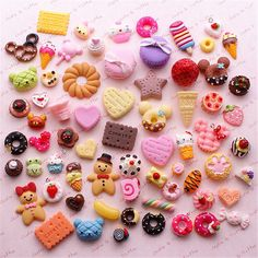 Decoden Sweets Deco Resin Kawaii Cabochon Assortment Assorted Pack Sophie & Toffee Sweets Starter Pack from SophieToffeeCo on Etsy. Fimo Kawaii, Polymer Clay Kawaii, Kawaii Crafts, Polymer Clay Charms, Diy Clay, Clay Crafts, Crea Fimo, Cute Clay, Miniature Crafts