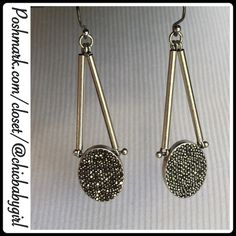 """#JUST-IN LUCKY BRAND MARCASITE EARRINGS This drop earring will add a bit of sparkle to your day. Lucky Brand two-sided design feature and hook drop. Measurements; 2"""" design drop and total earring with hook 2.5"""" Lucky Brand Jewelry Earrings"""