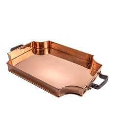 Look at this Royale Leather-Handle Copper Tray on #zulily today!