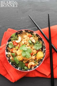 Vegetable Fried Rice With Pineapple | Save and organize your favourite recipes on your iPhone and iPad with @RecipeTin! Find out more www.recipetinapp.com #recipes #vegan #rice