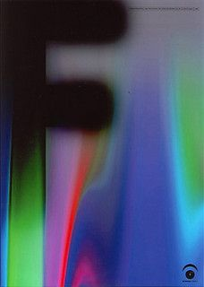 Japanese Graphic Design, Mitsuo Katsui  Morisawa Font computer designed poster (one of a set of four) by Mitsuo Katsui 1998. Printed offset lithography.