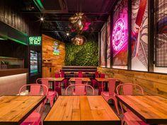 Faber Creates New Thai Express Format for UK Market 2 Restaurant Interior Design, Shop Interior Design, Cafe Design, Mexican Restaurant Decor, Thai Restaurant, Restaurant Ideas, Thai Cafe, Thai Express, Thai Decor