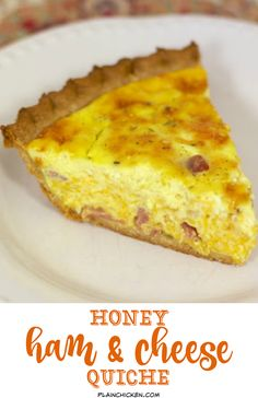 Just change crust to lowcarb for LCHF. Honey Ham and Cheese Quiche - can be made ahead of time and refrigerated and even frozen for later. Great for breakfast, lunch or dinner! Quiche Recipes, Brunch Recipes, Breakfast Recipes, Real Food Recipes, Cooking Recipes, Yummy Food, Cooking Ham, Quiches, Ham Sausage Recipe