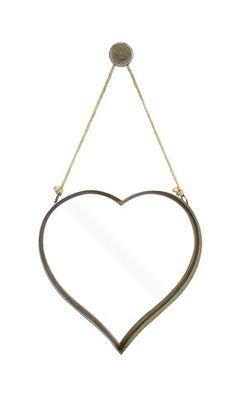 Large Rustic Metal Heart Mirror