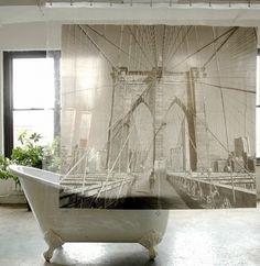 shower curtain ideas | diy shower curtain ideas | cool shower curtain designs | shower curtain rod ideas