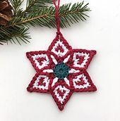 Ravelry: Pattern Search Bobble Crochet, Crochet Round, Free Crochet, Crochet Ideas, Crochet Motif Patterns, Star Patterns, Christmas Star, Little Christmas, Christmas Ideas