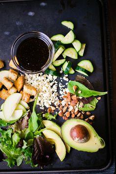 Apple and Gorgonzola Salad with Balsamic Vinaigrette