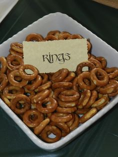 The one ring at a Hobbit party  #hobbit #partyfood