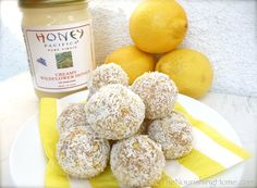 Lemon Snowballs – made with nutritious whole food ingredients, they're the perfect guilt-free addition to any holiday party or cookie	exchange!