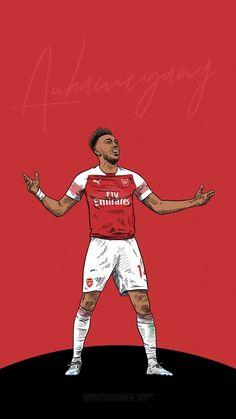 Arsenal Fc Players, Aubameyang Arsenal, Arsenal Football, Football Art, World Football, Sport Football, Arsenal Wallpapers, Soccer Drawing, Soccer Stars