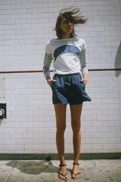 I'd like some linen shorts