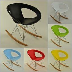 Stuhl modernes Techno Design Schaukelstuhl Eiffel Esszimmerstuhl Kunststoff EMMY in Büro & Schreibwaren, Büromöbel, Sitzmöbel | eBay