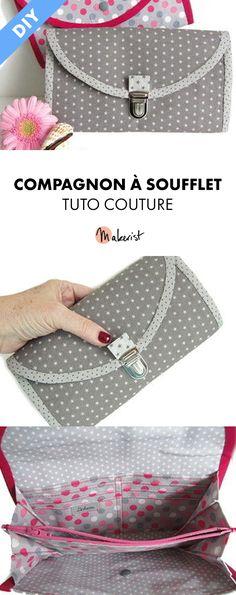 Compagnon à Soufflet - Les Créations de Dehem (sac, pochette, trousse...) #diy #couture #tutoriel #tutocouture