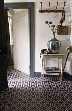 Patterned floor tiles..