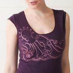 Octopus Math Women's Tshirt - OctoPi Tee Shirt for Women - Gifts for the Geeky Girl. $24.00, via Etsy.