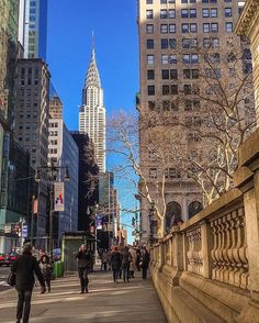 The view along Street, looking east, just outside 📷: for … 🗽🌇❤🍎🏙 … New York Life, Nyc Life, City Aesthetic, Travel Aesthetic, City Vibe, Dream City, Living In New York, Concrete Jungle, Belle Photo