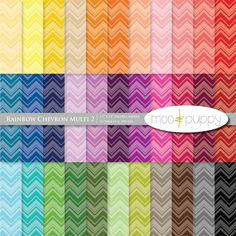 Chevron Digital Scrapbook Paper Pack by Moo and Puppy