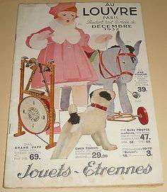 ancien catalogue AU LOUVRE 1932 JOUETS ETRENNES