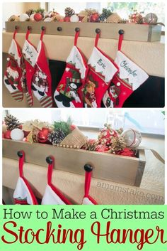 This post is sponsored by Home Depot. I've always wanted a fancy mantel to hang my stockings. Each year, it's been a bit of a game and question of where to place our stockings. So this year, I set out to make my own DIY stocking hanger that would both be functional and addto our home décor. I love how this stocking hanger turned out and how I can change up the look each year by what I add to the hanger box! How to Make a DIY Stocking Hanger Supplies: Pre-cut poplar boards at Home Dep...