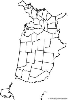 Blank outline of the continental United States with state borders.