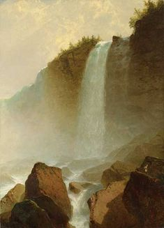 Niagara Falls by John Frederick Kensett, 1855, oil,  45 x 32 1/2. Collection Wadsworth Atheneum Museum of Art, Hartford, Connecticut.