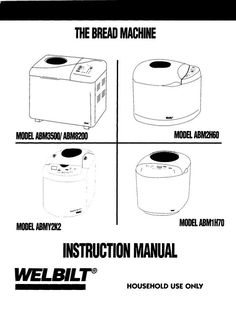 Welbilt Bread Machine Manuals: Free Downloads.  Her links do not work so she reposted the proper link in the comment section.