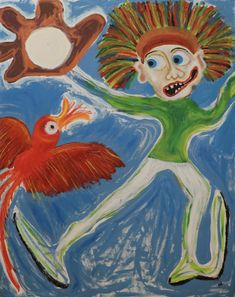 Catch/Maarit Korhonen, acrylic, oil pastels, oil stick, canvas, 92cm x 73cm Dark Paintings, Original Paintings, Sports Painting, Autumn Painting, Original Art For Sale, Online Painting, Find Art, New Art, Saatchi Art