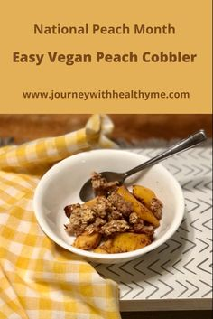 Healthy Lifestyle Tips, Lifestyle Group, Plant Based Diet, Plant Based Recipes, Vegan Peach Cobbler, Simple Dessert, Thing 1, Recipe Boards, Abundance