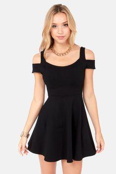 She-Devil Black Dress at LuLus.com!