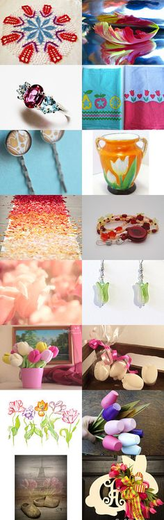 Tiptoe thru the tulips with PTPTEAM by Corkycrafts on Etsy--Pinned+with+TreasuryPin.com