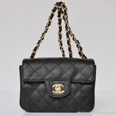 Chanel-Mini-Flap-Ball-Grain-Leather-Bag-Black-With-Gold-Hardware-1115